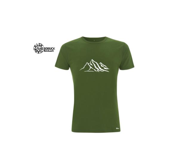 Bergshirt Männer Bambus laubgrün