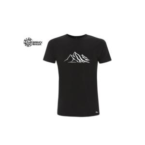 Bambus T-Shirt 'Berge' – Schwarz, XL