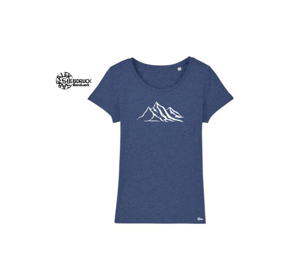 Berg T-Shirt Damen blau meliert