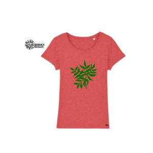 Bio Baumwolle T-Shirt Ladies 'Blätter'