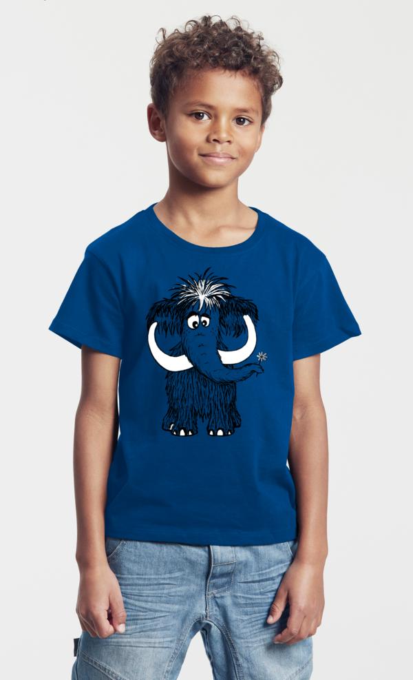 Kinder T-Shirt royal blau Mammut
