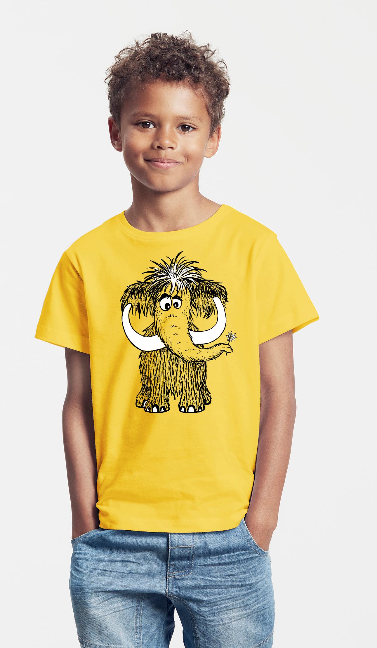 Kinder T-Shirt gelb Mammut