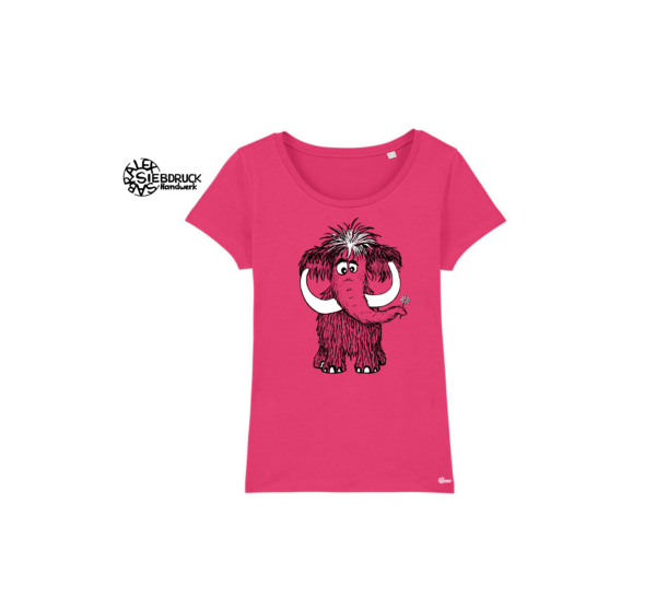 mammut auf rosa t-shirt