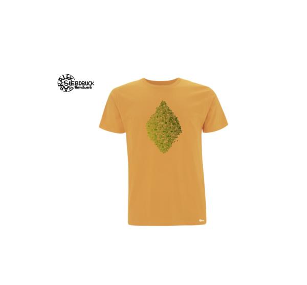 gelbes Bioshirt mit grünem Farbverlauf