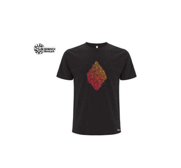 schwarzes Bioshirt mit Farbverlauf