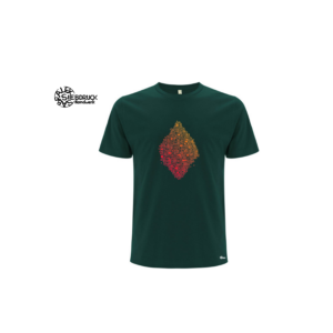 Bio T-Shirt 'Pixel' mit Farbverlauf
