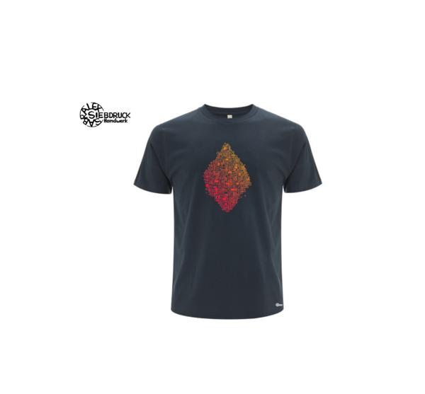 dunkelblaues Bioshirt mit Farbverlauf