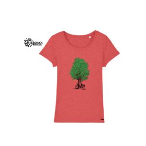 Bio Baumwolle T-Shirt Ladies 'Baum mit Radl'
