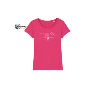 Bio Baumwolle T-Shirt Ladies 'Skitour'