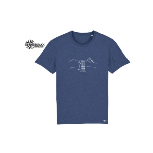 Bio Baumwolle T-Shirt 'Skitour'