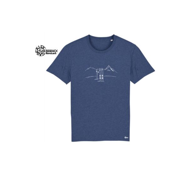 Skitour T-Shirt blau Männer